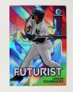 2021 Bowman Futurist Chrome Base #FUT-JD Jasson Dominguez - New York Yankees