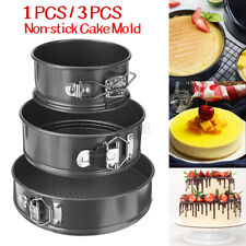 1/3Pcs Non-stick Removable Bottom Cake Pan Mold Bakeware Baking Tools Leakproof
