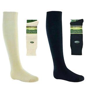 Men Longer Length 60%Wool Fisherman Sea Boot Socks Hiking Fishing Size 6-11