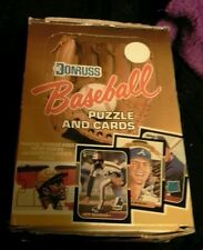 1987 DONRUSS BASEBALL WAX PACK BOX (EMPTY) UNCUT PANEL OF 4 CARDS