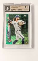 2020 Topps Chrome Bo Bichette Green Wave RC /99 #150 SP Rookie BGS 9.5 True