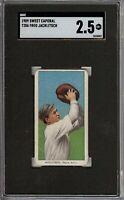 1909-11 T206 Fred Jacklitsch Sweet Caporal 150 Philadelphia SGC 2.5