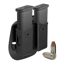Magazine Holster 9mm Dual Double Stack Mags Pouch Fit Glock Sig Sauer Taurus SW