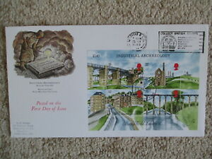 1989 INDUSTRIAL ARCHAEOLOGY GPO COVER, COLLECT BRITISH STAMPS, BRADFORD SLOGAN