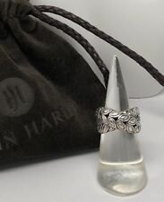 John Hardy .925 Sterling Silver Kawung Crossover Band Ring ~Sz 7 w/JH Pouch