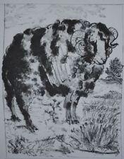 Estampes et gravures du XXe siècle et contemporaines animaux