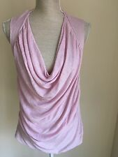 Women Top Thin Baby Pink Knitted Size 12 (27)