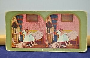 Antique Stereoview Card - #97 Dream After the Ball