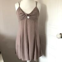 American Eagle Outfitters Blush Pink Spotty Strappy Mini Dress Size US 10 UK 14