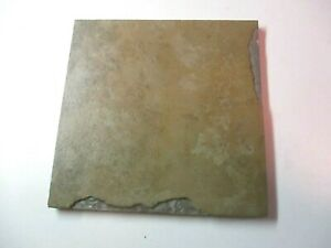 "Italy Simulated Slate 6"" Sq Porcelain Matte Brown 1 Floor Tile w/ Variations Vtg"