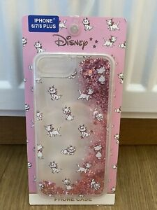 PRIMARK Disney Marie The Aristocats Phone Case Pink Glitter iPhone 6/6s/7/8 PLUS