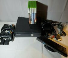 Microsoft Xbox 360 S Kinect 250GB Black Console Bundle, 2 controllers, games....