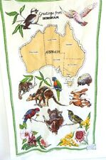 Souvenir Linen Dish Towel - Greetings from Horsham  Australian Souvenir Towel