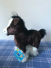 Ganz Webkinz Clydesdale Horse HM139. NEW UNUSED TAGS.