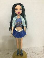 Barbie My Scene Roller Girl Nolee Blue Hair Streaks Articulated Legs Rare