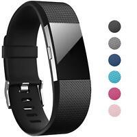 Für Fitbit Charge 2 Armband S L Ersatz Band Silikon Sport Uhr Ersatzband Fitness