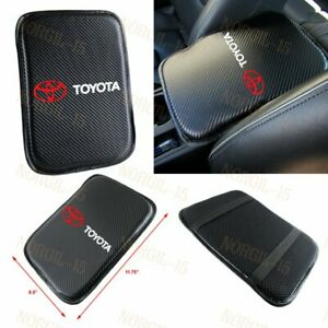 For TOYOTA RED Embroidery Car Center Console Armrest Cushion Mat Pad Cover X1