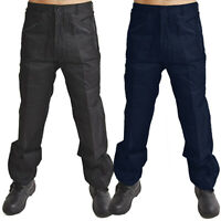 Mens Cargo Work Trousers Heavy Duty  Wear Combat Pants Size