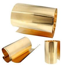Brass Metal Thin Sheet Plate Roll Foil 0.1x 200 x 1000mm Handicraft Metalworking