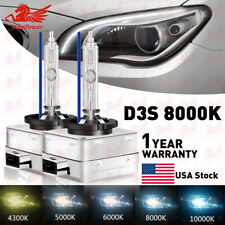 NEW 35W 8000K D3S D3R D3C HID Xenon Bulbs Replace Factory HID Headlight Pair US