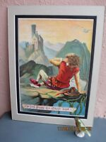 antique lithograph illustration from Jack and the Beanstalk by R. Andre 1888