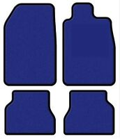 Tailored Electric Blue Premier Car Floor Mats for Peugeot 206 98-05 - Black Trim