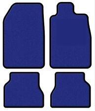 Sur mesure électrique bleu Premier voiture tapis pour Peugeot 206 98-05 - garniture noir