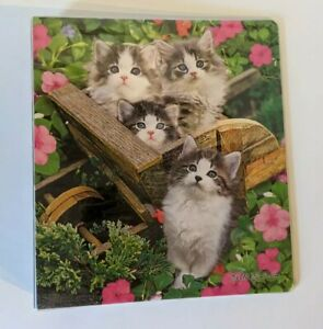 Class Act, Keith Kimberling Kittens in the Garden Flowers 1 Subject Ring Binder