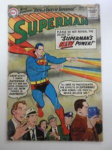 "Superman #125 ""Secret of Superman's New Power!"" Fair Condition Cvr Rip 4"""