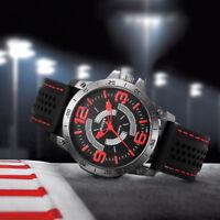 Fashion Men Silicone Strap Sport Quartz Hours Stainless Steel Analog Wrist Watch