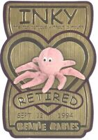 TY Beanie Babies BBOC Card - Series 3 Retired (GOLD) - INKY the Tan Octopus