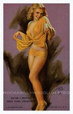 Pin Up Girl Poster 11x17 Mutoscope Card Earl Moran Beautiful Blonde Long Legs