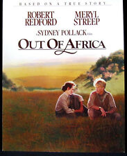 Rare Vintage Out Of Africa Promo Movie Ad Program 1985 Meryl Streep Universal