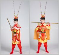 Chinese Traditional Performance Clothing Children Cosplay Costumes Monkey King