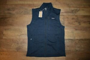 Patagonia Men's Better Sweater Vest 25882 Size Small (New Navy) NWT
