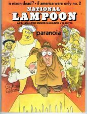 Vintage National Lampoon Magazine August 1970 -  Vol. 1 No. 5 -  Paranoia