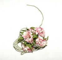 Vintage 1950s Pink Silk Carnation Flower Cluster Millinery for Hats and Crafts