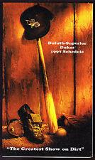 1997 DULUTH SUPERIOR DUKES WDSM AM RADIO BASEBALL POCKET SCHEDULE EX+NM