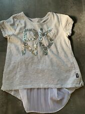 Dkny Youth Girls Gray Bling Top, Size L (12)