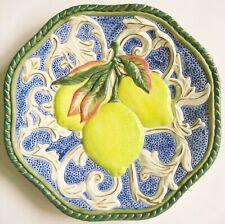 Fitz & Floyd Highly Embossed Lemon 8 ¾�/22cm. Decorative/Serving/Hangin g Plate
