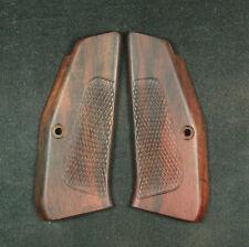Rosewood Custom Design Checkered Grips For  CZ 75-85 FULL SIZE #137 New