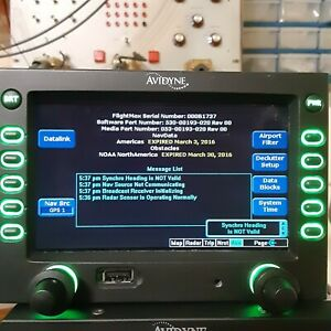 Avidyne EX500 MFD P/N 700-00007-004 RDR 130, 150, 160 Radar Option.