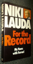 NIKI LAUDA-FOR THE RECORD-1978 UK KIMBER H/B BOOK-FERRARI