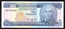 Barbade: banque centrale, deux dollars, (1986), H9 782280, King Signature, (Pick...