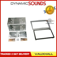 Connects2 Double Din Car Stereo Facia Fitting Kit SILVER Vauxhall Astra H