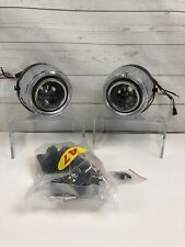 "4"" LED 7 Color Halo Angel Eye Projector Fog Lights Driving Lamps Pair"