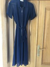 SANDRO PARIS Navy Blue Shirt Dress with Playsuit Inside Size 1  UK 8 10