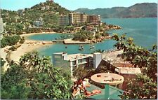 ACAPULCO MEXICO 1960s Pan Am Airline Advertising Postcard BY