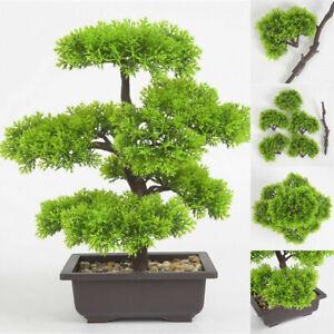 33cm Künstliche Bonsai Baum Topfpflanzen Betriebsdekoration Plastikbaum Dekor