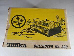 1967 TONKA MINN CATERPILLAR BULLDOZER No.300 ORIGINAL BOX Made in USA